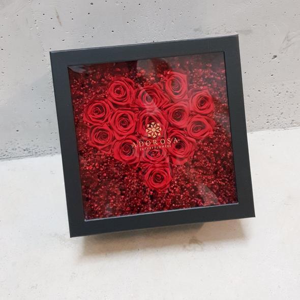 adorosa square heart box
