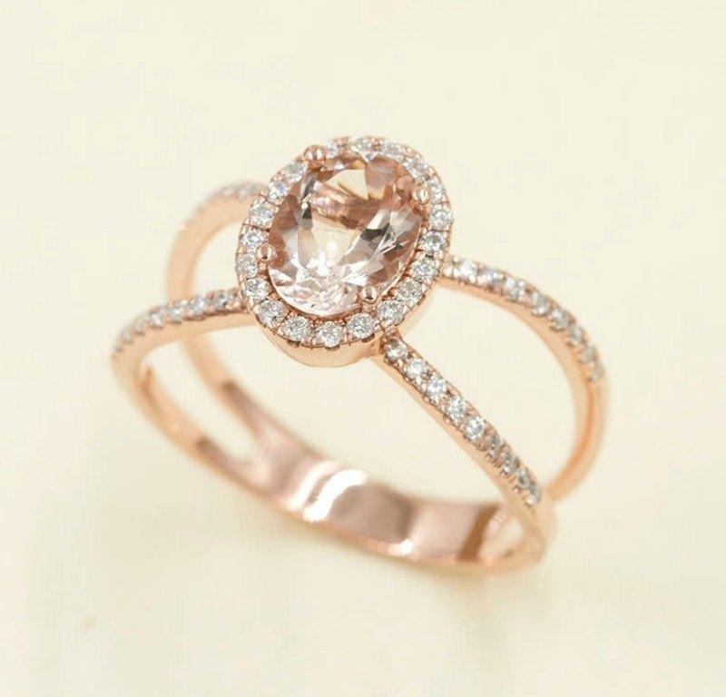 morganite engagement ring