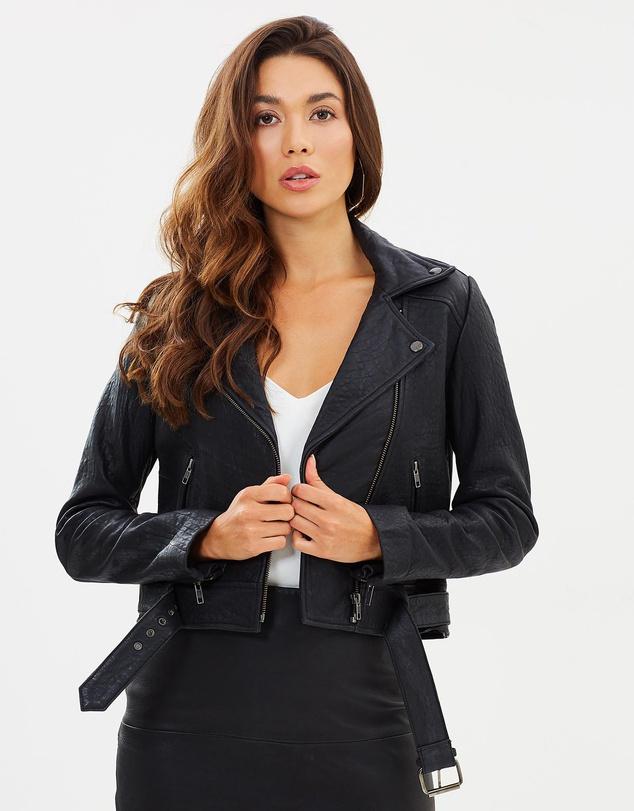 capsule wardrobe australia black leather jacket
