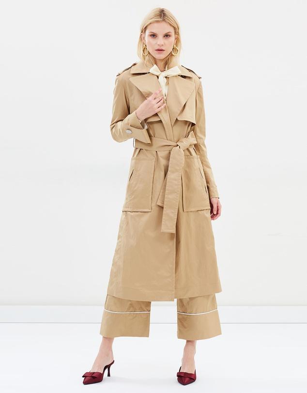 capsule wardrobe australia trench coat