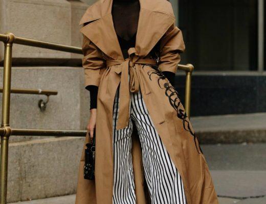 capsule wardrobe trench coat street style
