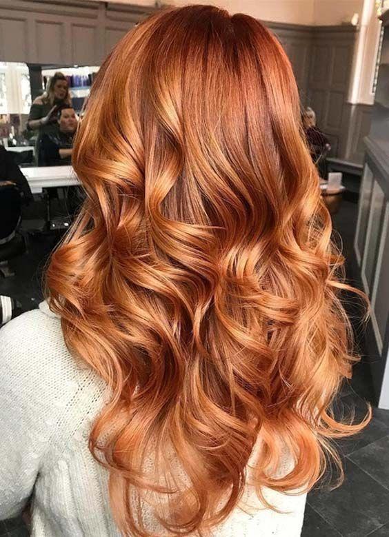 beautiful hair - long red