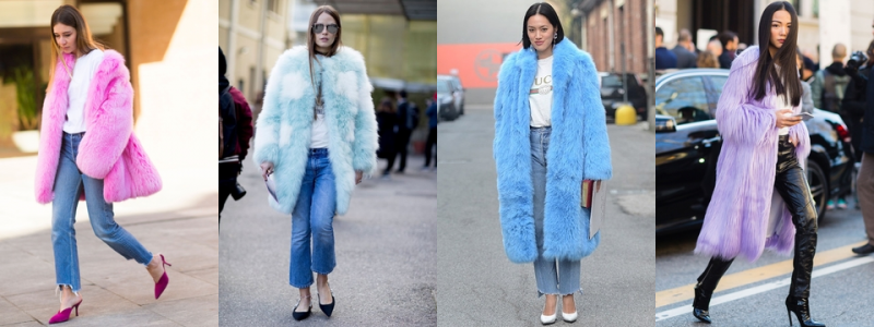 Milan-Street-Style-Colored-Fur street style trends 2017