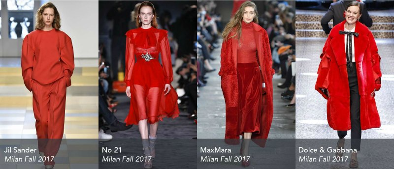 street style trends runway Milan-Fall-2017-Trends-Red