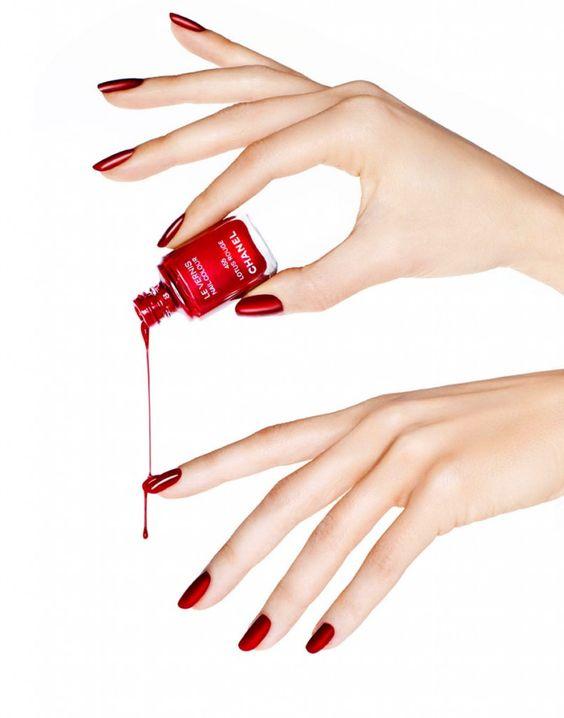 polished women hands