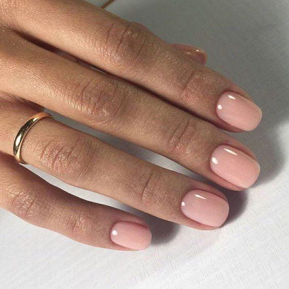 polished women nails