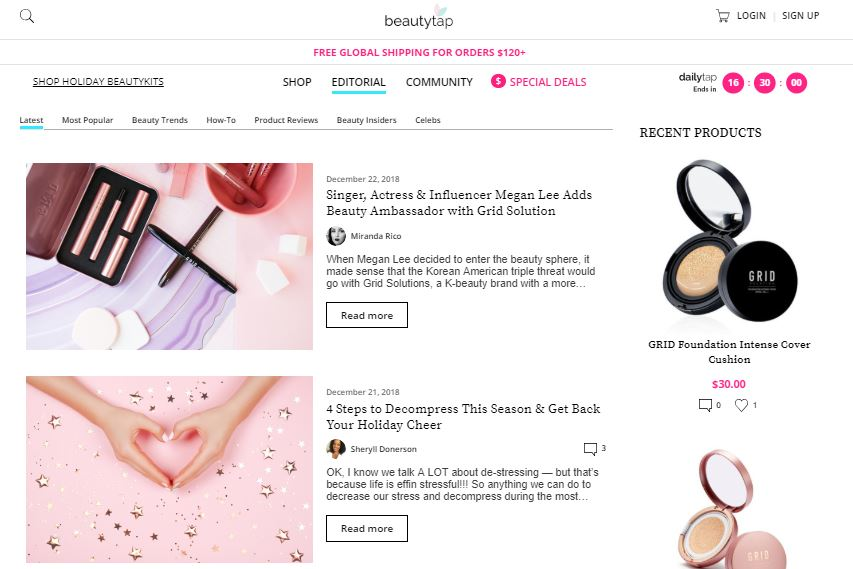 beautytap website