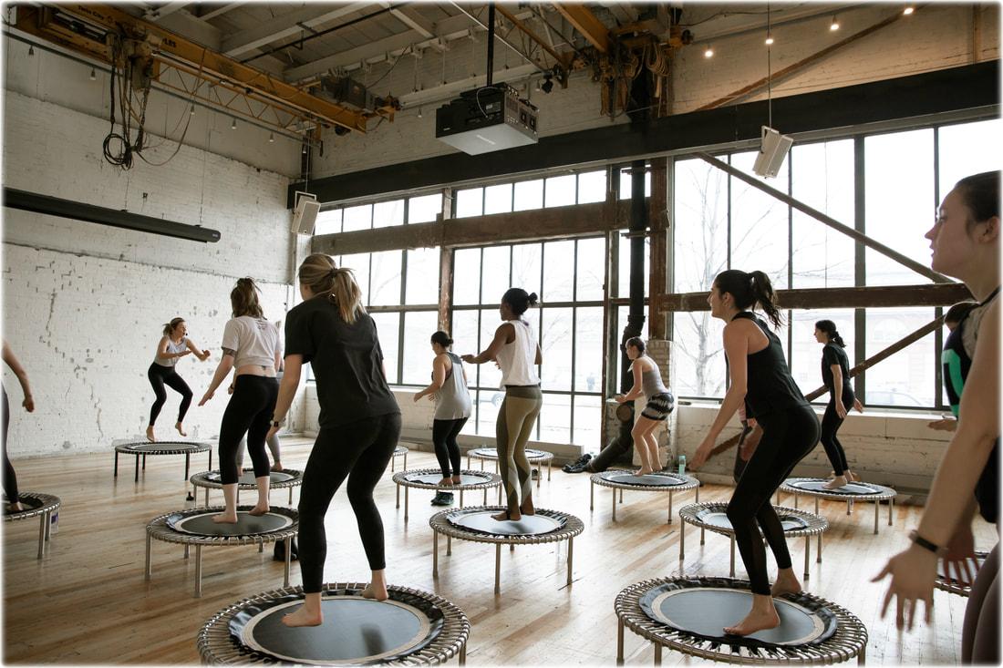 trampolining fitness trend