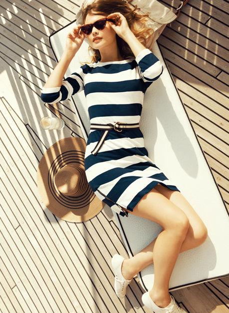 J.Crew nautical dress, stylin on you