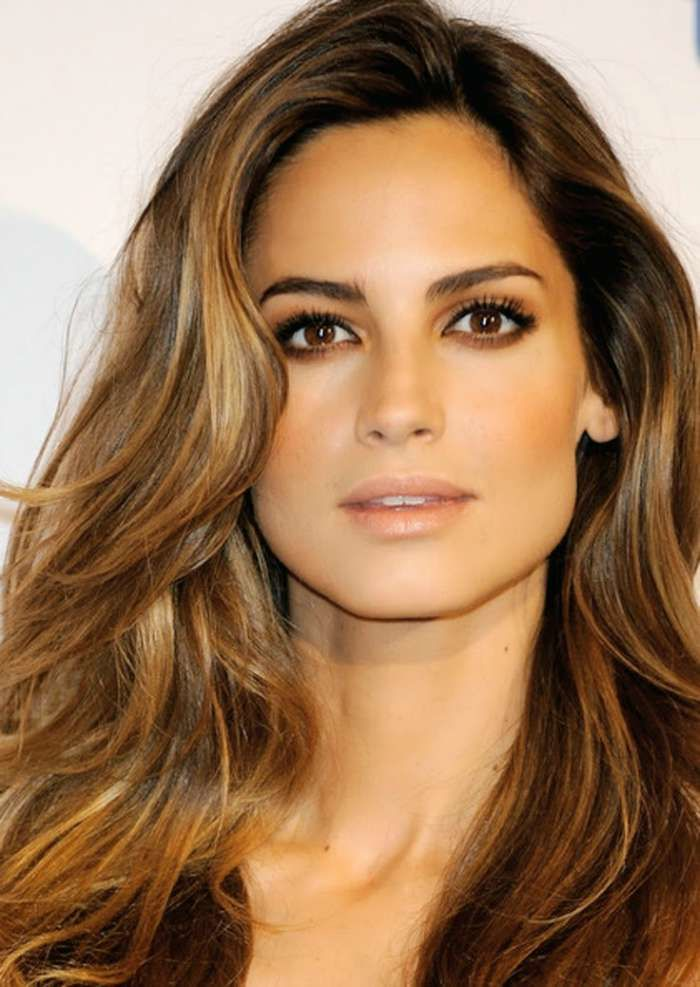 dark brunette bronde hair trend 2015