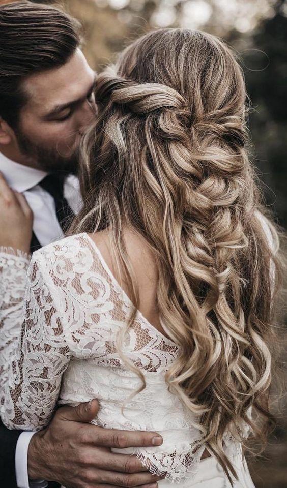 wedding hairstyles messy braid