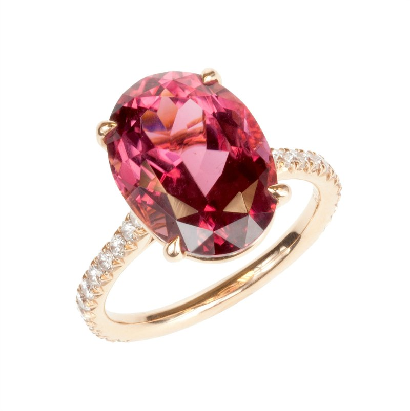 Pink Tourmaline engagement rings