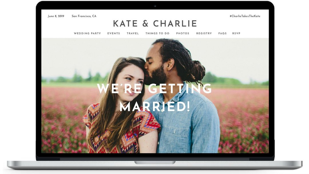 Personal Wedding Website for a Big Day