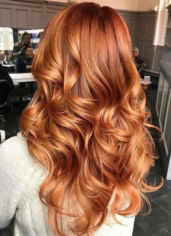 beautiful hair - long red