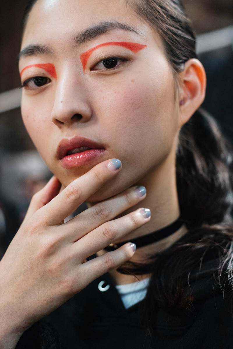 NYFW beauty look sprabal-gurung-aw-2017-runway-beauty