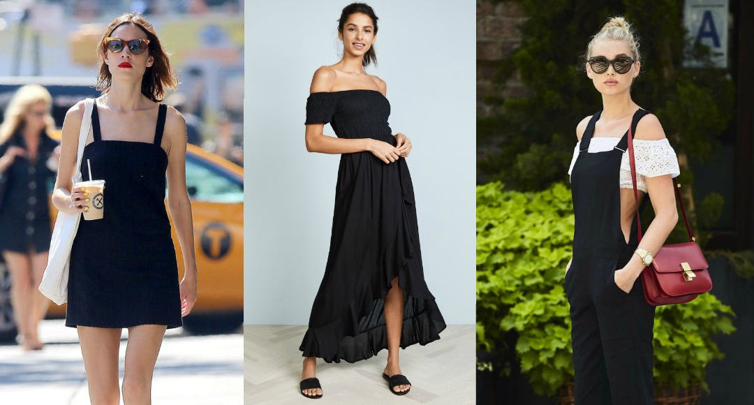 all black outfits summer