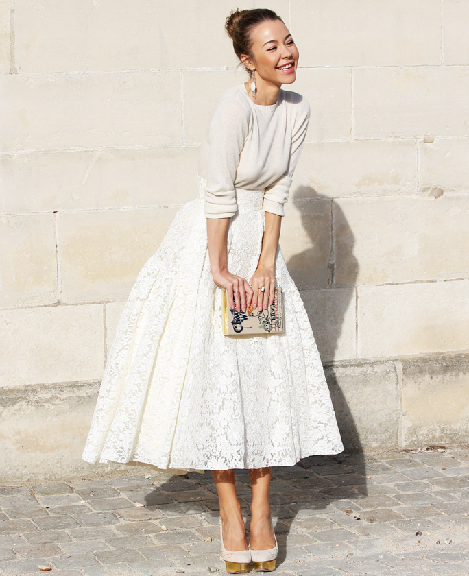 34fe6302fc Street Style: The Midi Skirt | Classy Outfit Ideas | What To Wear |  Shopping Tips & Inspiration - Breakfast With Audrey