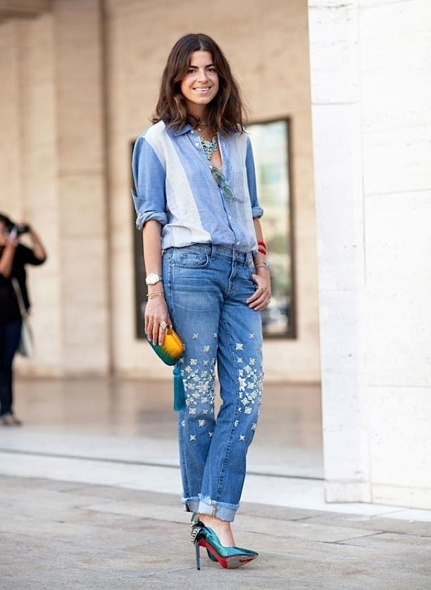 Street Style Denim Breakfast With Audrey Outfit Ideas What To Wear Fashion Trends