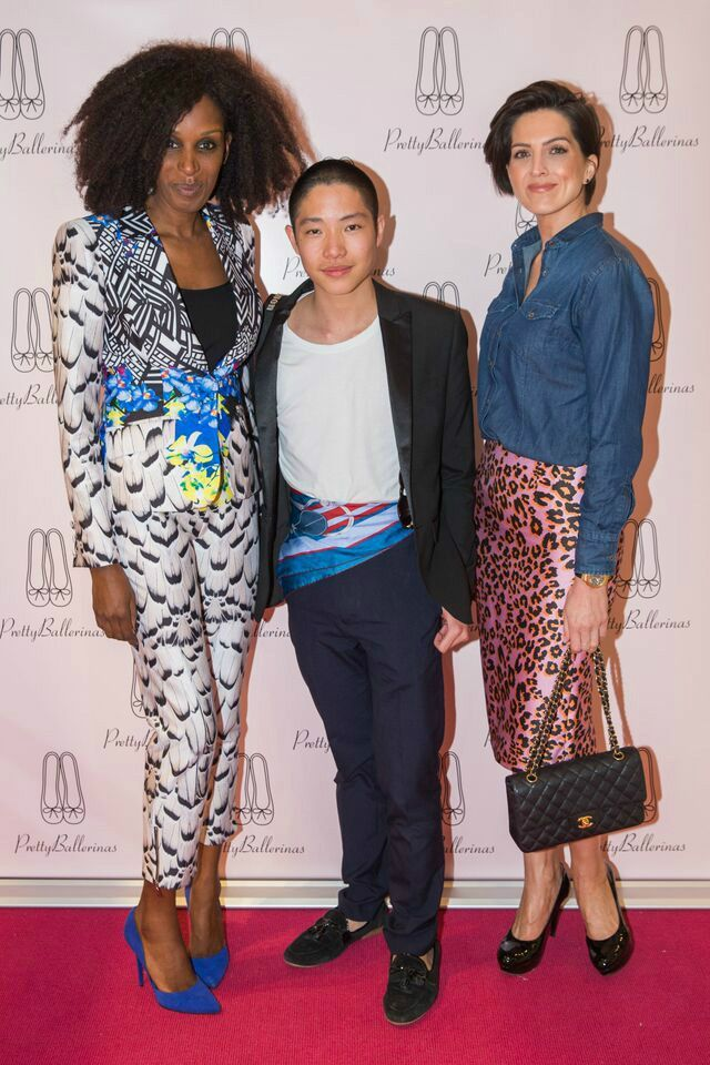 Myself (far right) with Deauvanne from Mamastylista, and Liam Pratt from The Cavalier Blog