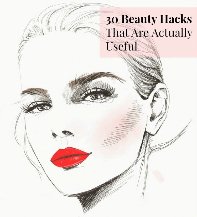 Beauty Hacks Garance Dore Illustration Pin