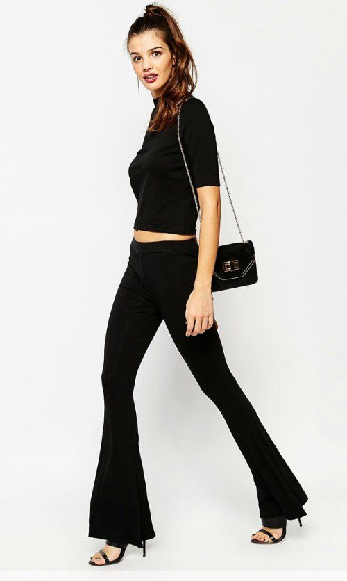 Black Jersey Flares from ASOS, $35