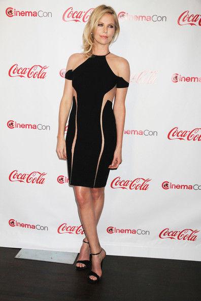 Charlize+Theron+Dresses+Skirts+Cutout+Dress+NU2tSx2tdVSl