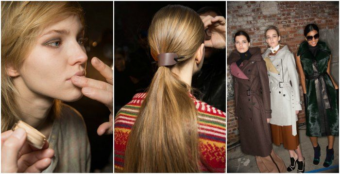 Smoky eyes, pared back hair and an ode to the 70's at Derek Lam. Images: style.com