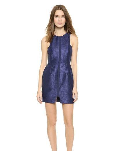 Finders Keepers Crystallised Dress in Blue Shop Bop