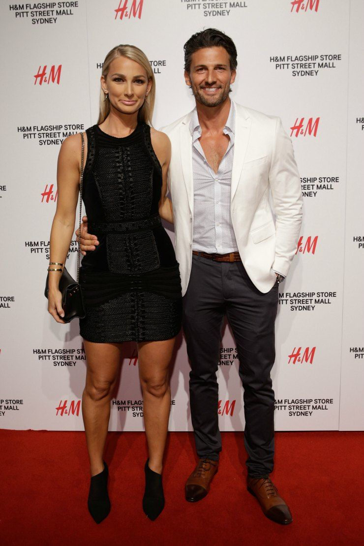 H&M Sydney Launch Anna Heinrich and Tim Robards