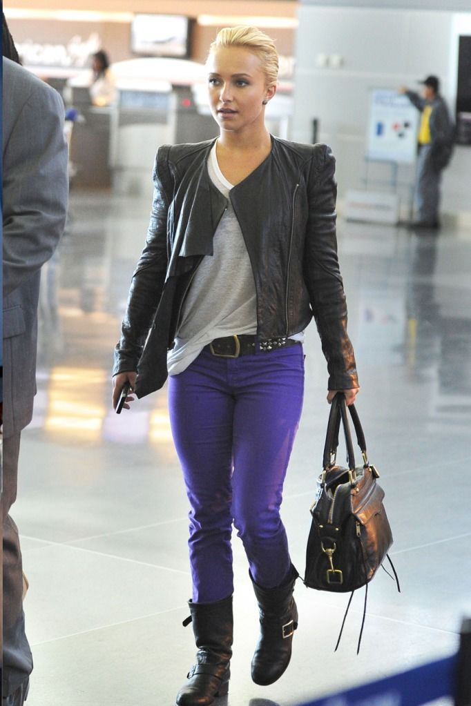 Hayden Panettiere at JFK Airport