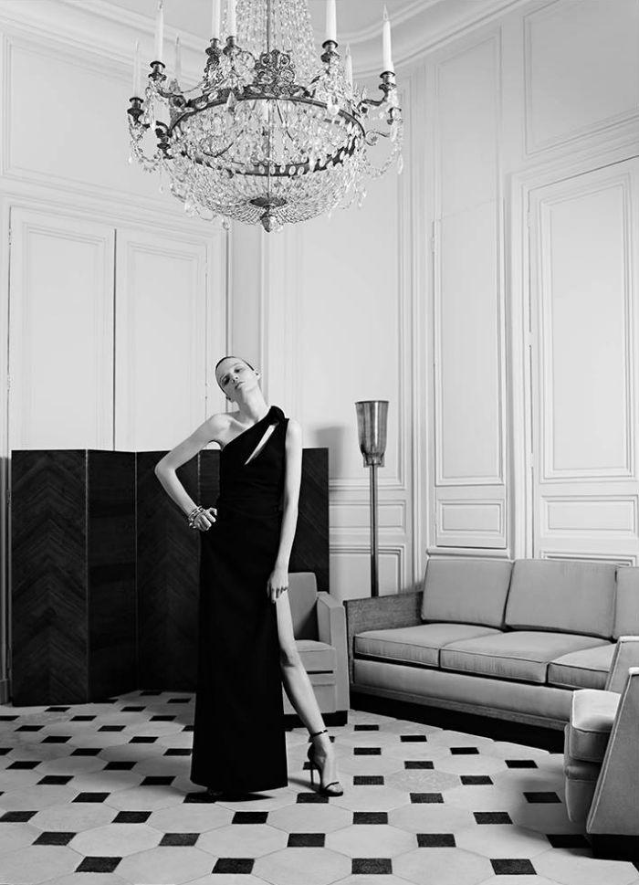 Hedi Slimane revisits YSL Haute Couture