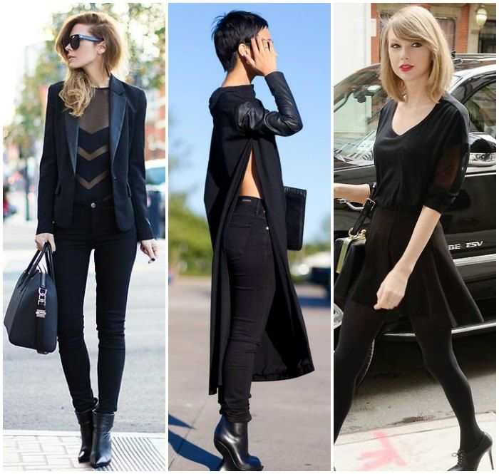 How to keep all black interesting - sheer