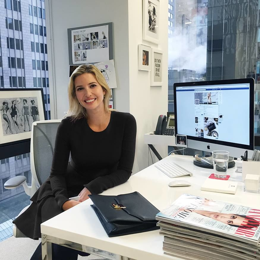 Ivanka Trump's tips for negotiating like a boss pictured in her office
