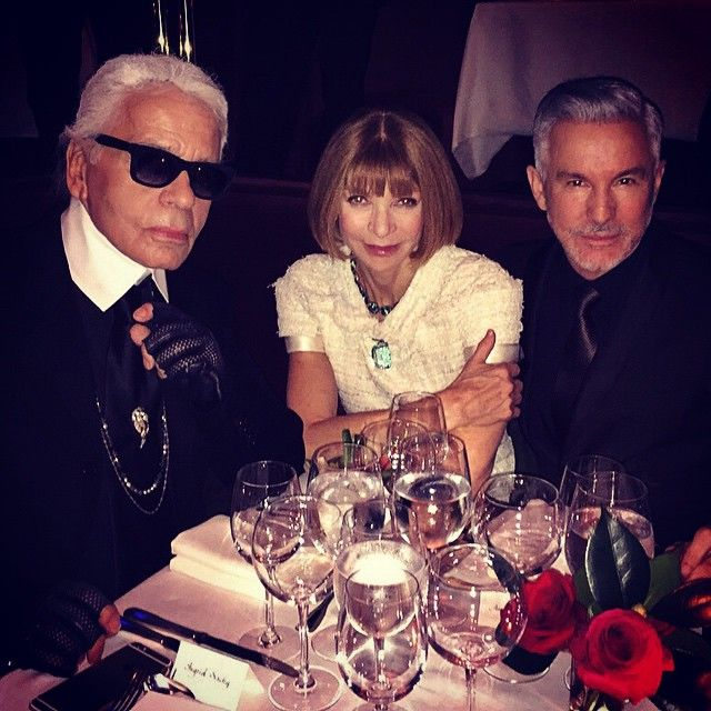 Karl lagerfeld Chanel Dinner with Guests
