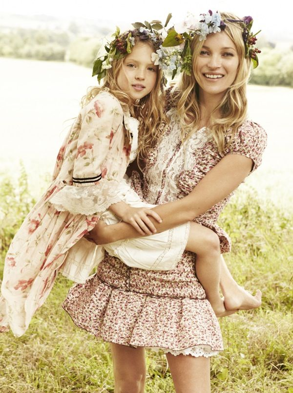 Kate and Mini-Kate photographed by Mario Testino for Vogue