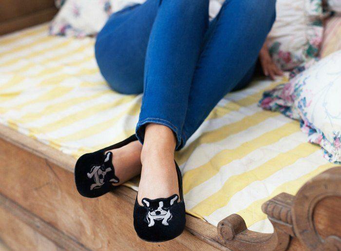Kerrie Hess Bulldog Slippers