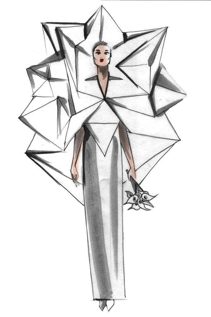 Sketch: Charles Youssef, Image: wwd.com