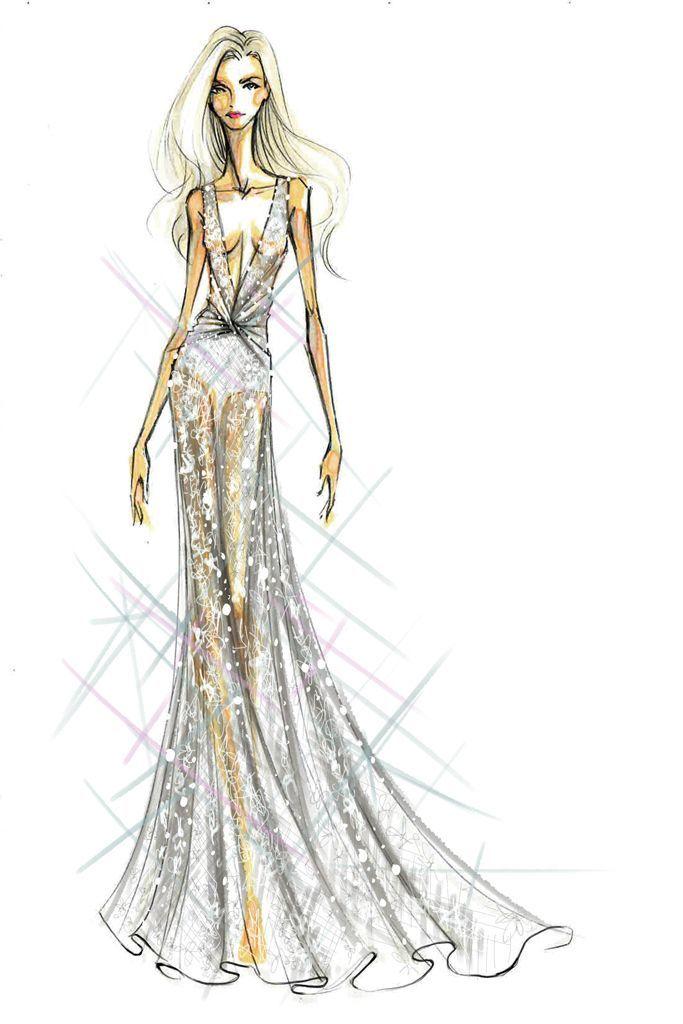 Sketch: Diane Von Furstenberg. Image: wwd.com