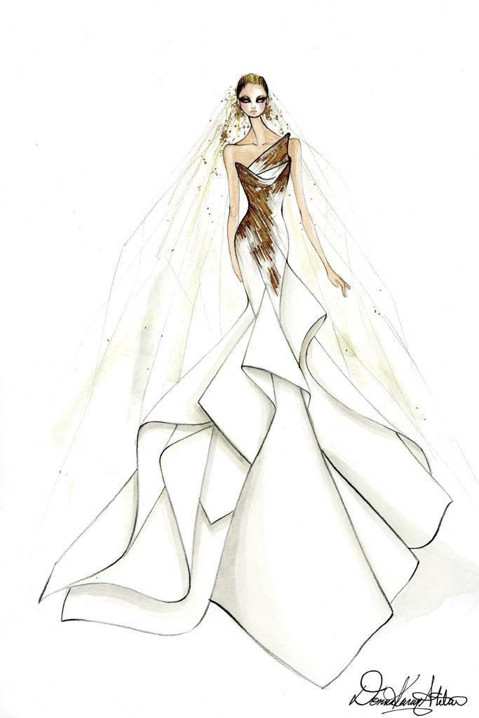 Sketch: Donna Karan. Image: wwd.com