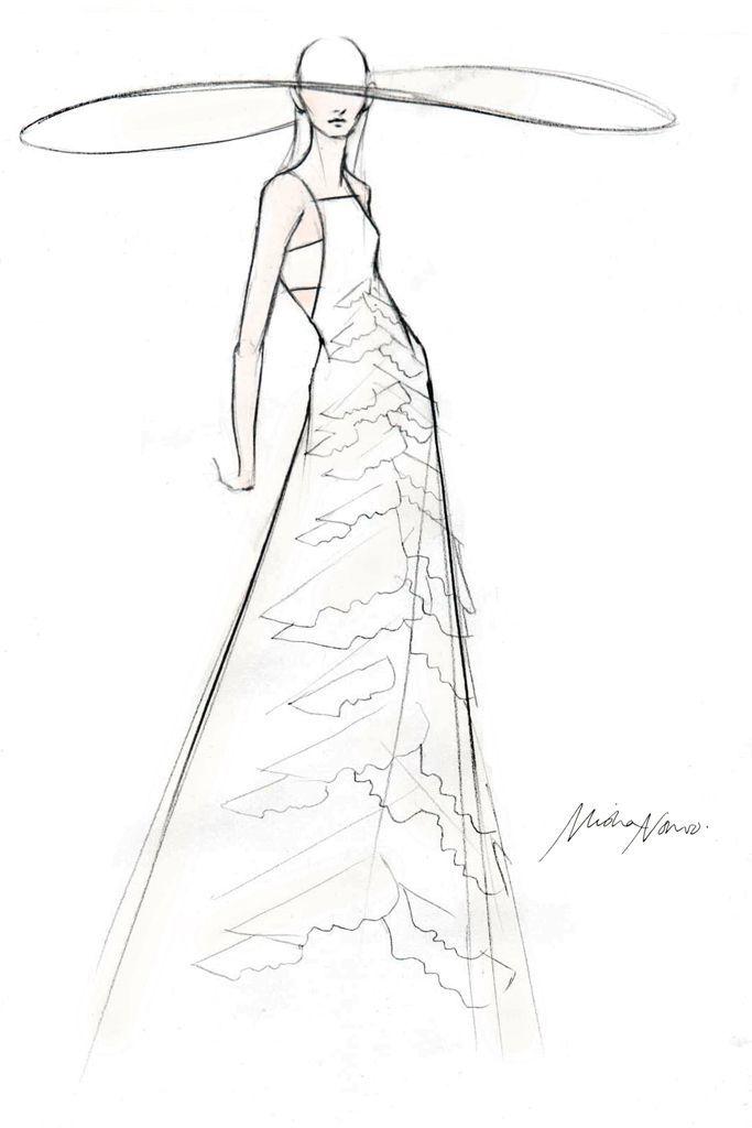 Sketch: Misha Nonoo. Image: wwd.com