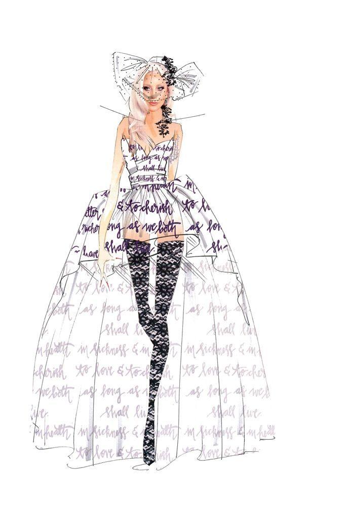 Sketch: Nicole Miller. Image: fashiongonerogue.com
