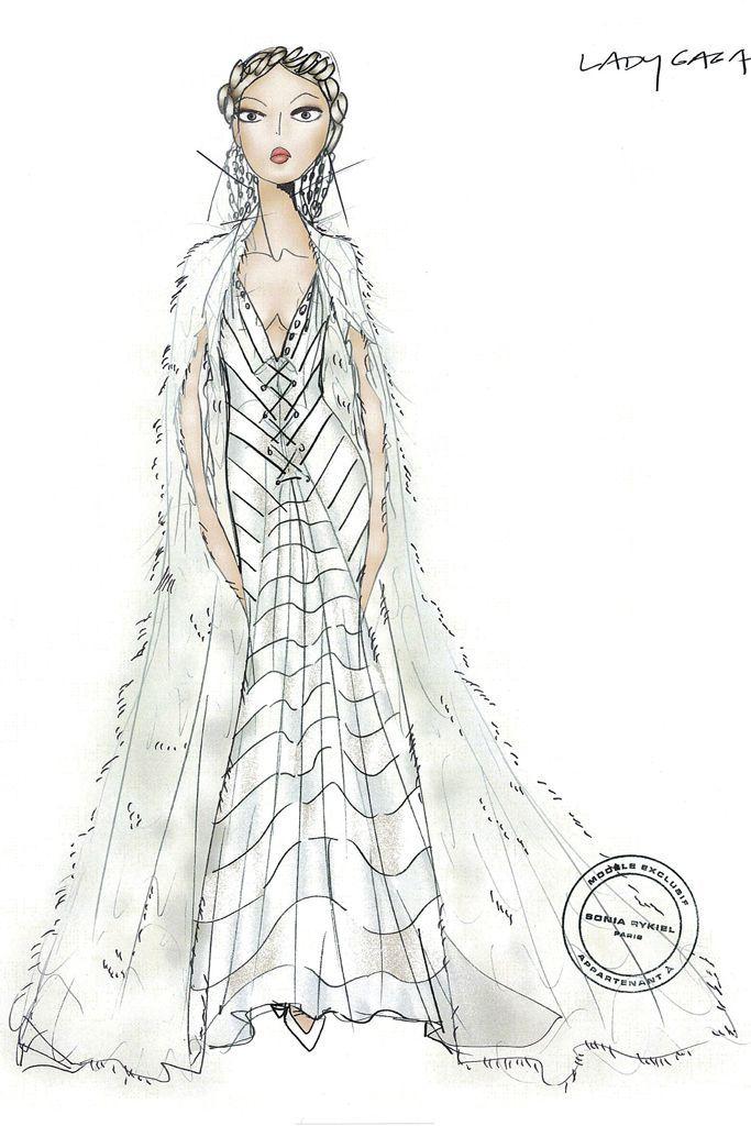 Sketch: Sonia Rykiel. Image: wwd.com