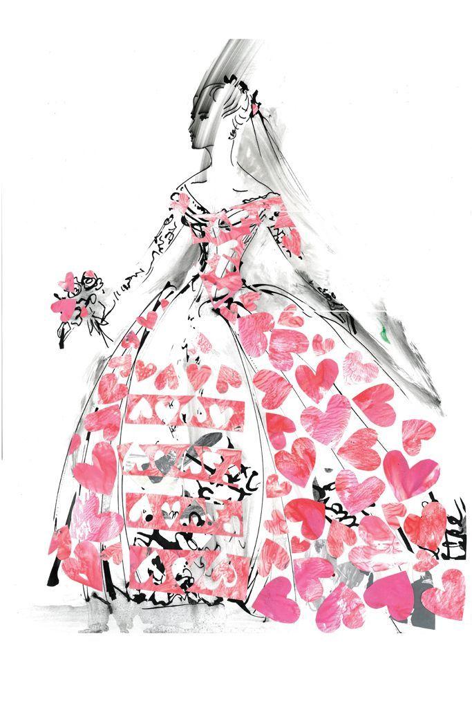 Sketch: William Ivey Long, image: wwd.com