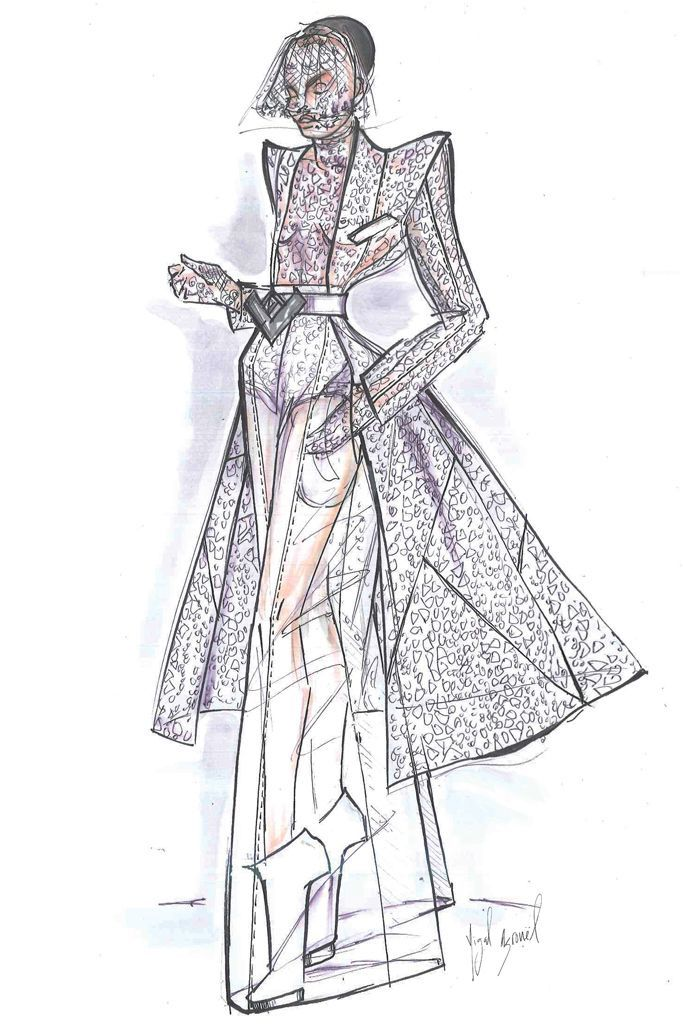 Sketch: Yigal Azrouel, Image: wwd.com
