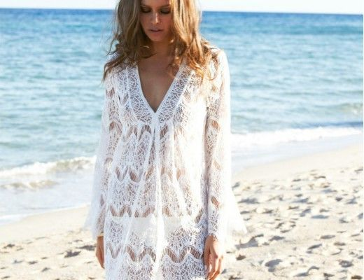 Long-Beach-Dress-White-Lace-Crochet-Lace-Cover-up-Shirt-Loose-Dresses