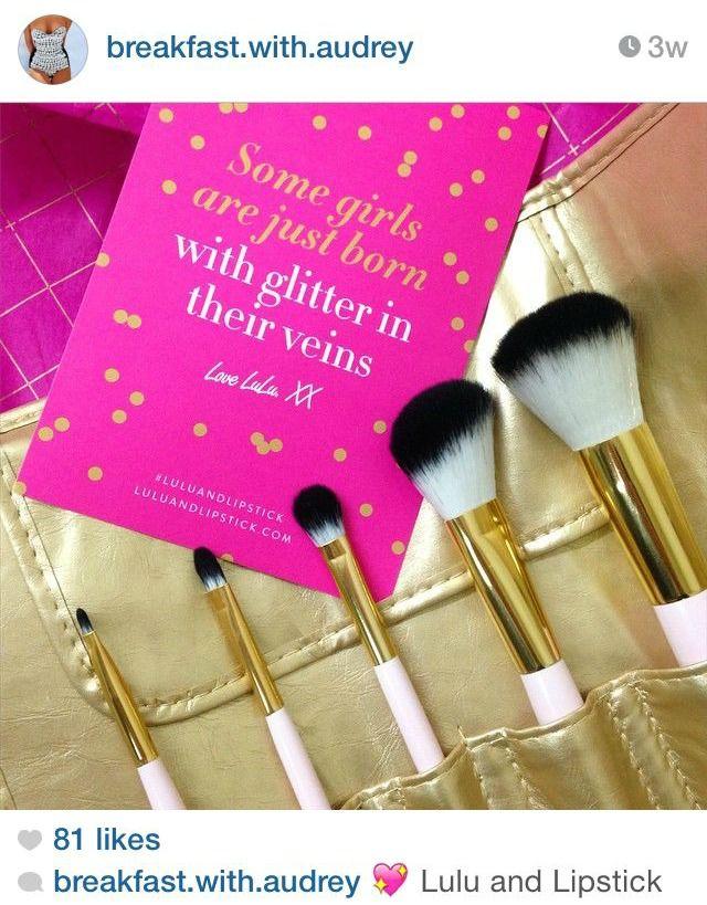 Beautiful Lulu & Lipstick Travel Brush Kit. Image: BWA's instagram