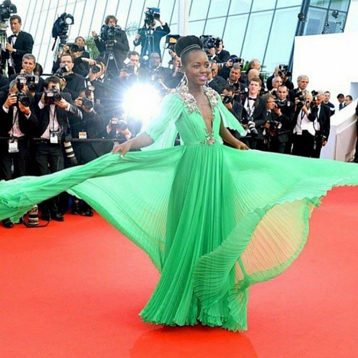 Lupita Nyong'o dazzles in Gucci. Image: www.vcpost.com