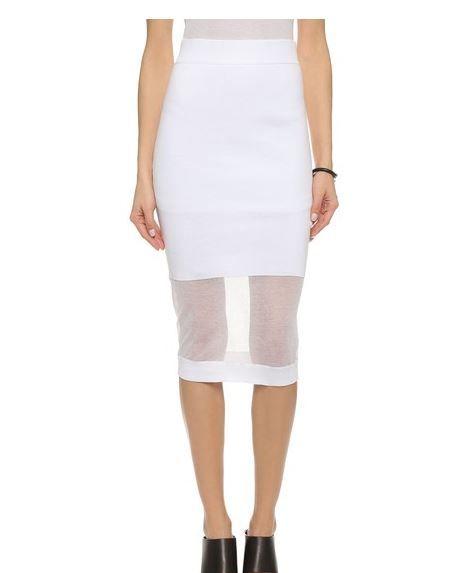 McQueen Solid Sheer Skirt