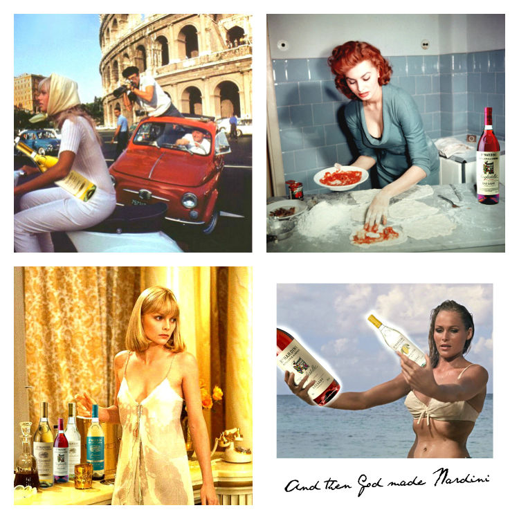 I had fun creating my own pop culture imagery for Instagram using the Nardini product!
