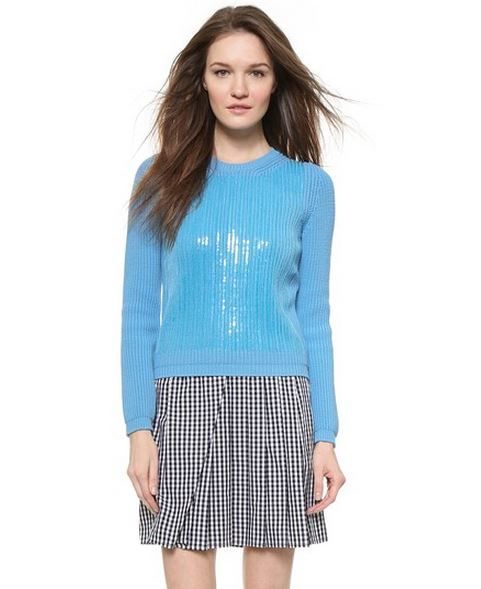 No.21 Sequin Front Sweater